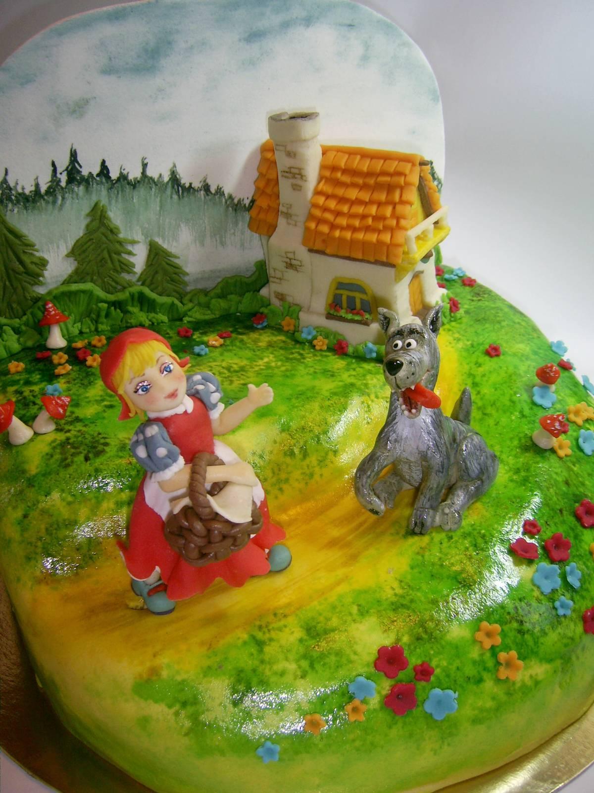 Красная шапочка и волк - Детские тортики - Фотоальбомы ...