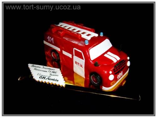 Пажарная машина уаз торт фото